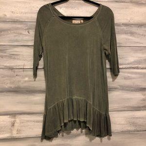 Army Green Cotton blouse